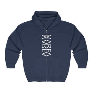 Marfa Reflection Unisex Full Zip Hooded Sweatshirt