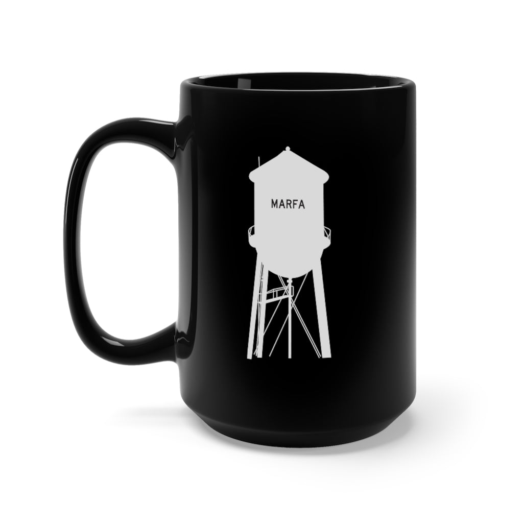 Marfa Water Tower Black Mug 15oz