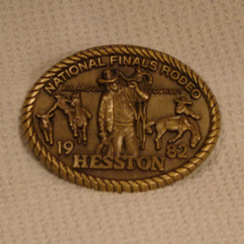 Hesston 1982 Large Belt Buckle
