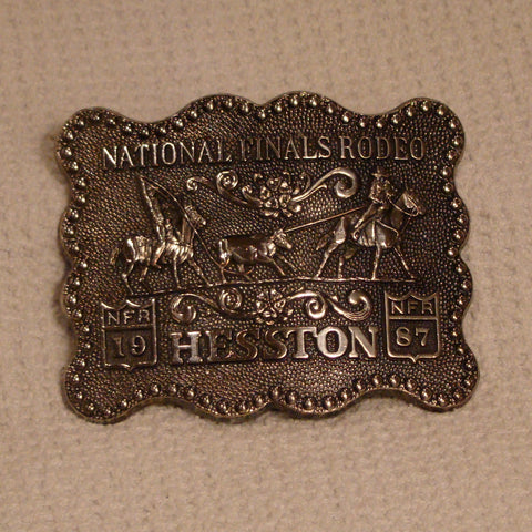 Hesston 1987 Large Belt Buckle