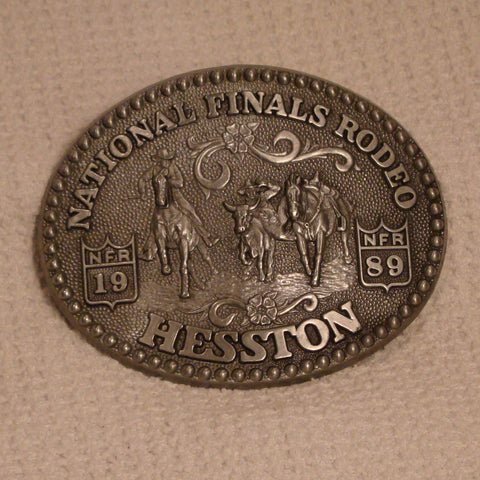 Hesston 1989 Large Belt Buckle