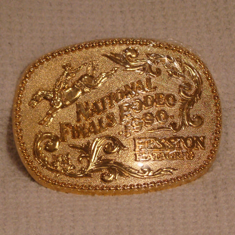 Hesston 1990 Gold - Large Belt Buckle