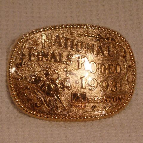 Hesston 1993 Gold - Large Belt Buckle