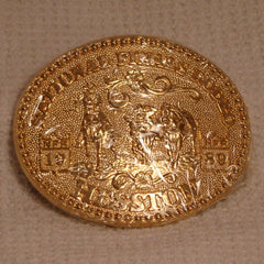 1989 Gold Hesston Belt Buckle