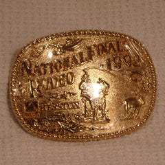 1992 Gold Hesston Belt Buckle