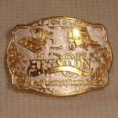 1997 Gold / Silver Hesston Belt Buckle