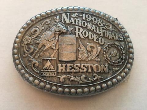 Hesston 1998 Large Belt Buckle - Barrel Racer