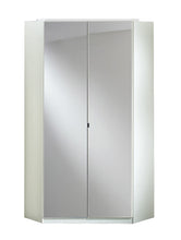 Clack Corner Mirrored Wardrobe