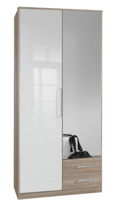 Gamma 2 Door Mirrored Wardrobe