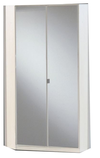 Gamma 2 Mirrored Door Corner Wardrobe