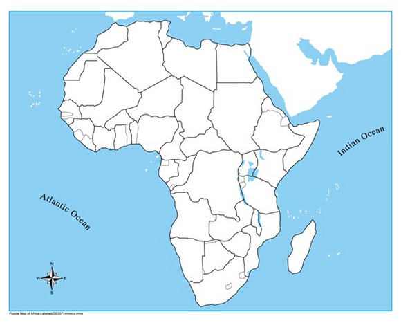 Unlabelled Africa Control Map
