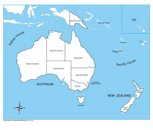 Labelled Australia Control Map