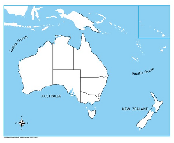 Unlabelled Australia Control Map