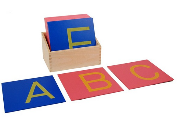 Capital Case Sandpaper Letters