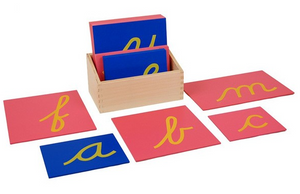 Lower Case Cursive Sandpaper Letters