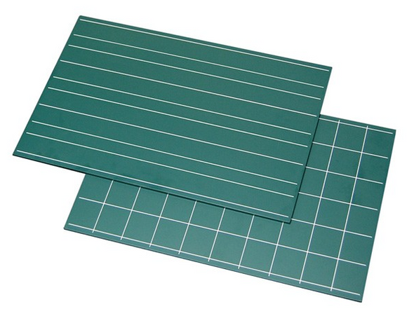 Green Boards with Double Lines & Squares (2pcs)