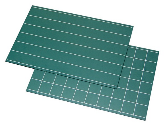 Green Boards with Lines & Squares (2pcs)