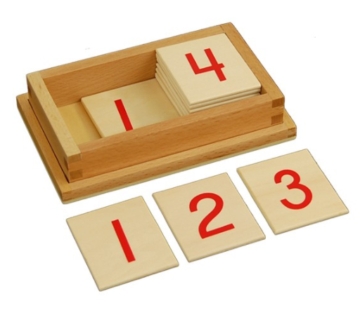 Printed Numeral Wooden Cards with Box