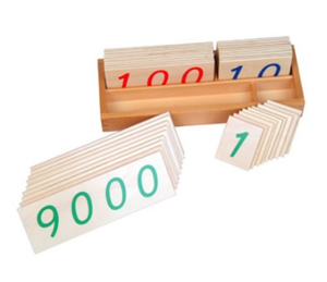 Large Wooden Number Cards With Box (1-9000)