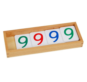 Large PVC Number Cards With Box (1-9000)