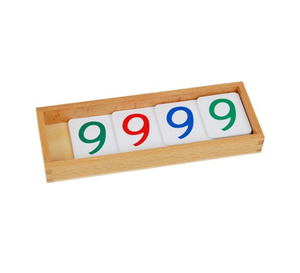 Small PVC Number Cards With Box (1-9000)