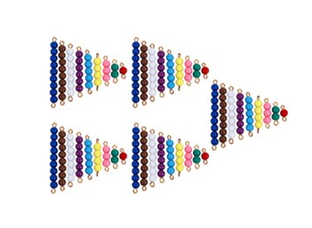 5 Sets of Colored Bead Stairs 1-9