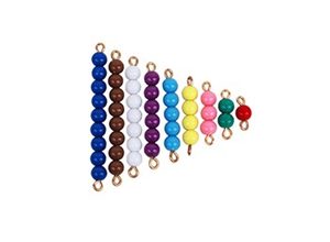 Colored Bead Stairs 1-9