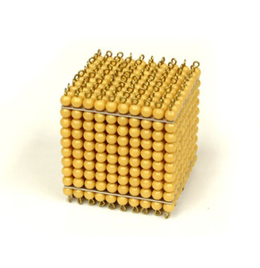 Golden Bead Thousand Cube