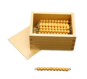 45 Golden Bead Bars of 10 with Box