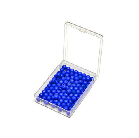 100 Blue Beads with Box
