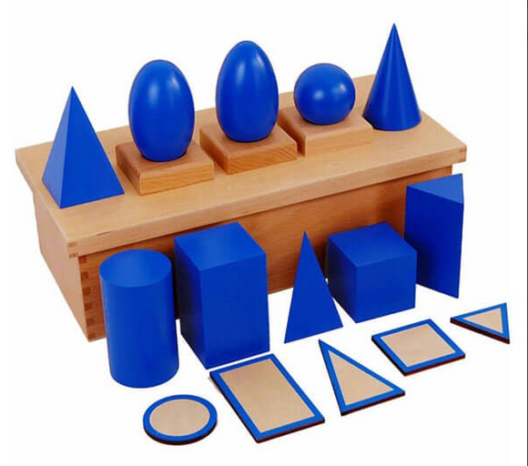 Geometric Solids with Stands, Base with Box