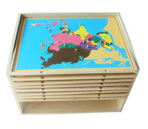 8 Puzzle Maps with Cabinet & Map Tray