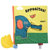 Funny Zoo Baby Learning Soft Cloth Book - Opposite