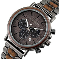 BOBO BIRD Luxury Wood Stainless Steel Mens Watch