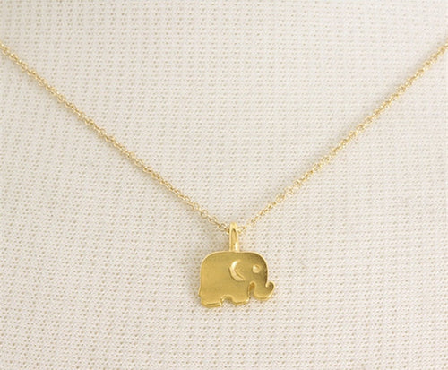 Baby Elephant Necklace, Good Luck Elephant