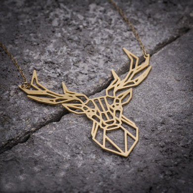Deer Necklace, Deer Antler Pendant Animal