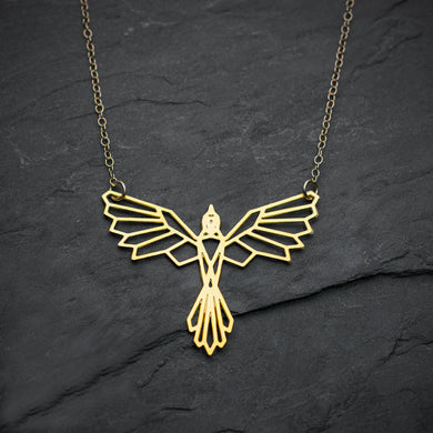 Bird flaying necklace
