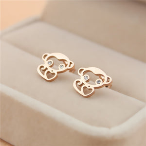 ORGNO - Monkey Earring Rose Gold Color