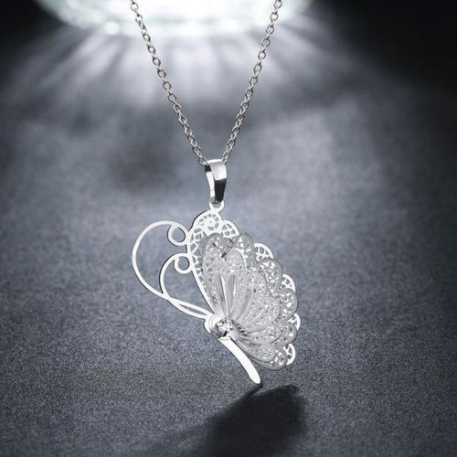 Butterfly Pendant Chain Necklace Jewelry