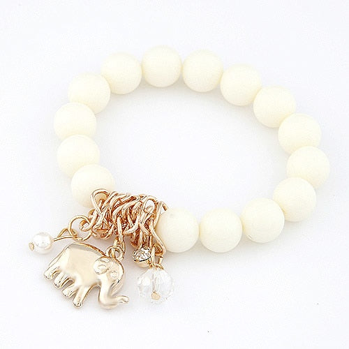 Color Beads Bracelet Elephant