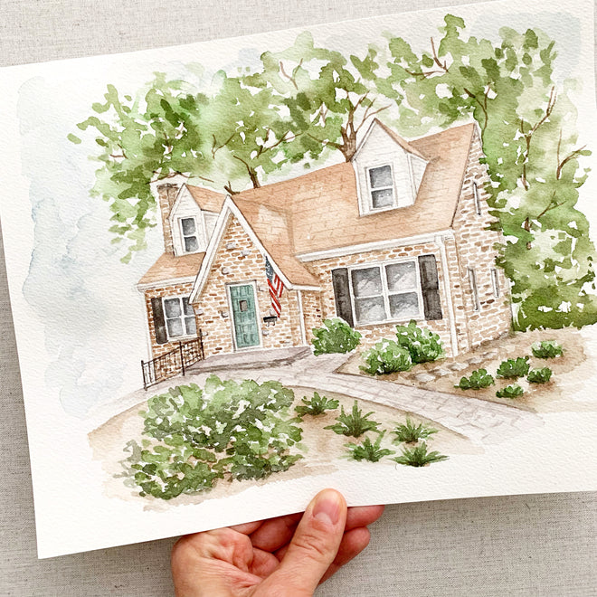 Watercolor Home Portraits