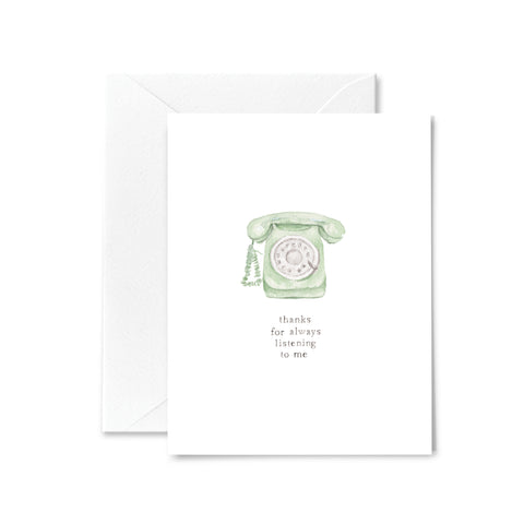 Friendship Card - Always Listen - Vintage Phone