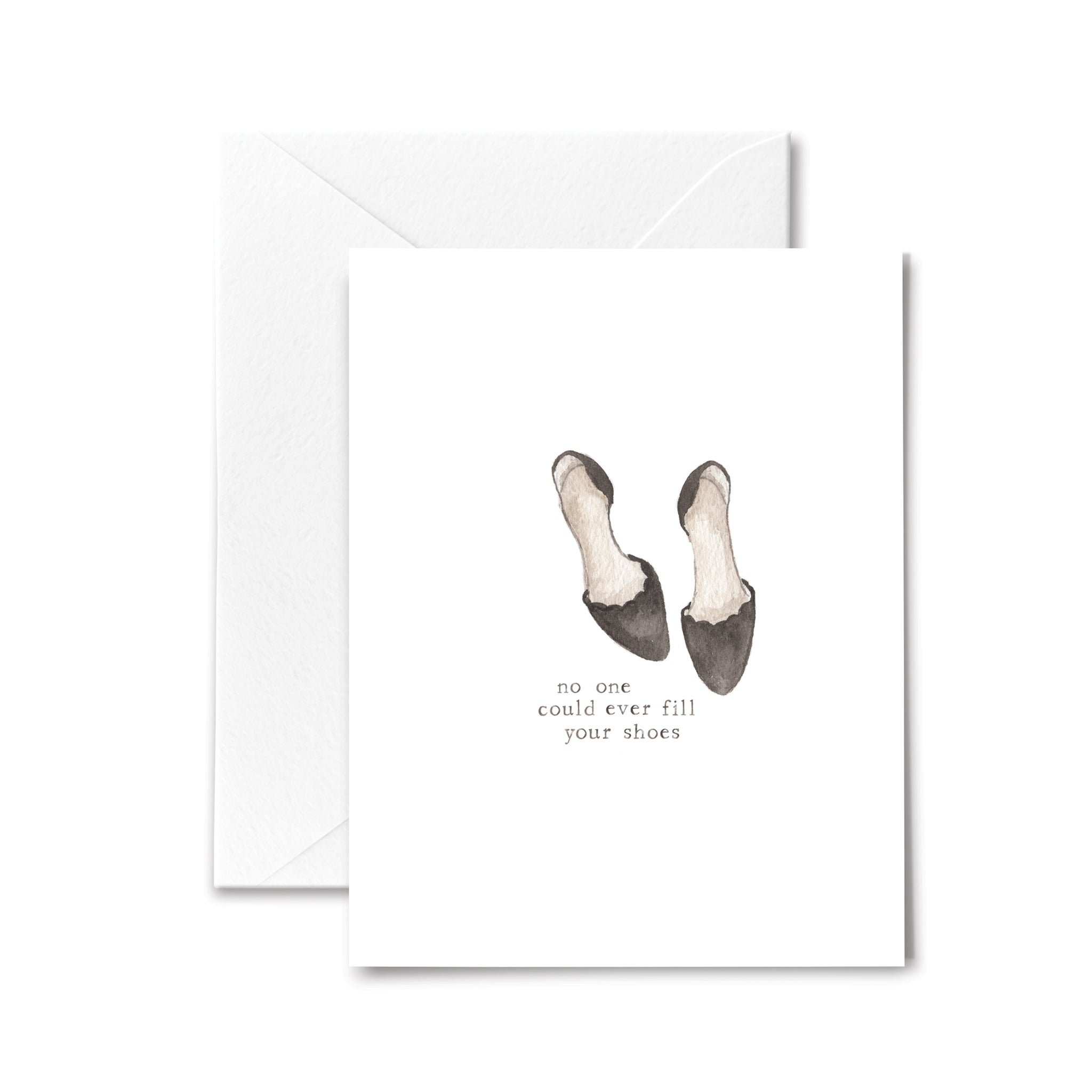 Best Wishes Card Fill Your Shoes Watercolor