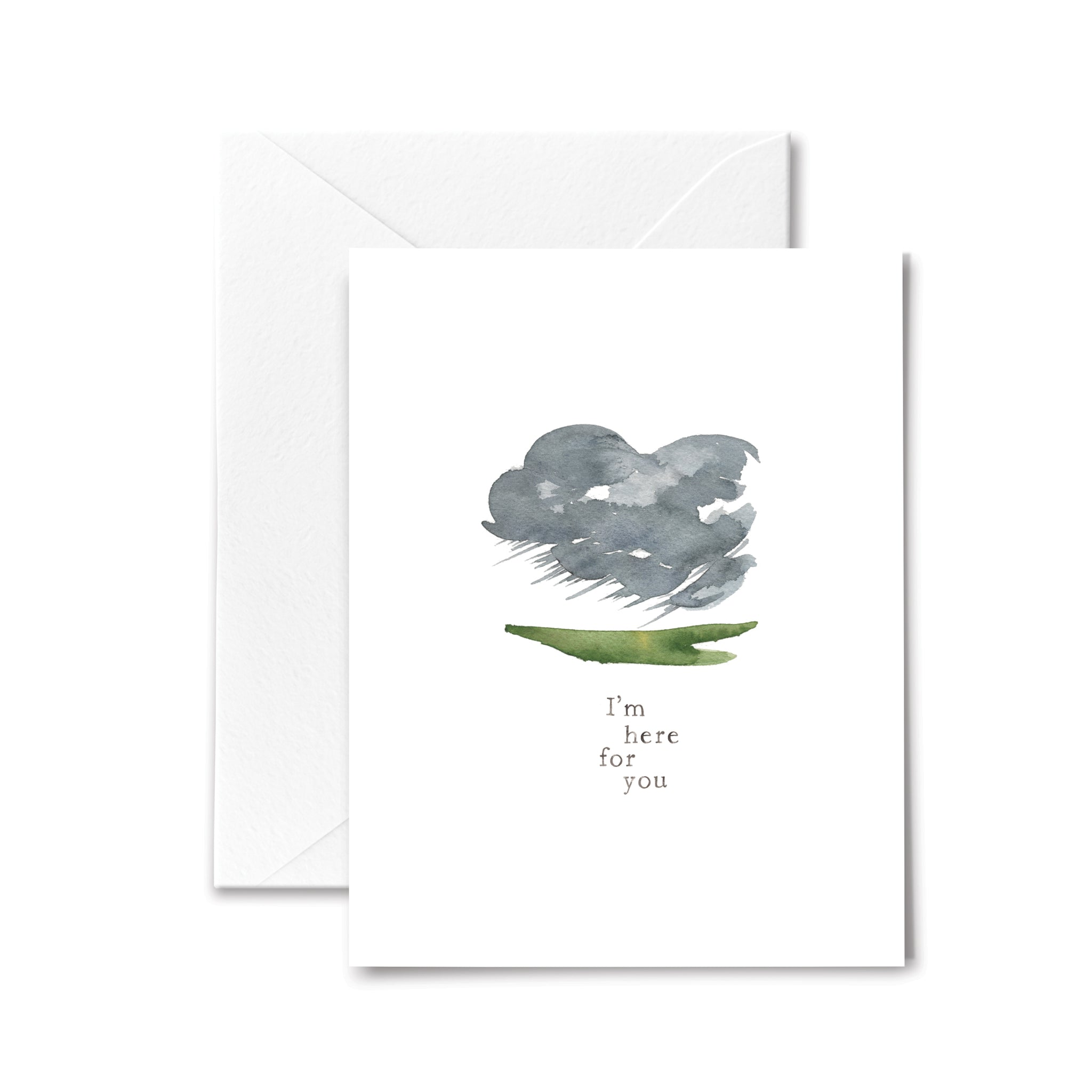 sympathy card storm cloud watercolor illustration