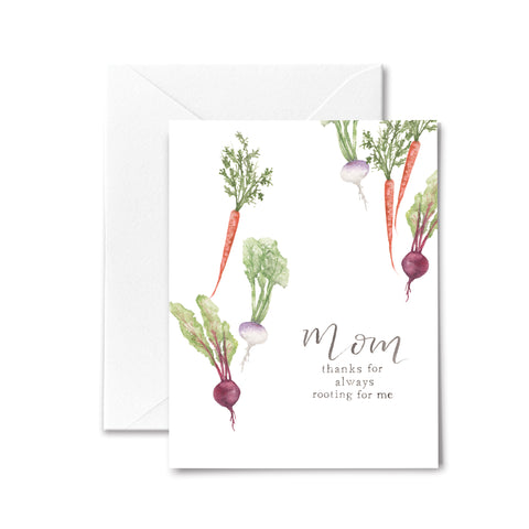 Mother's Day Card Vegetables Root Me Watercolor
