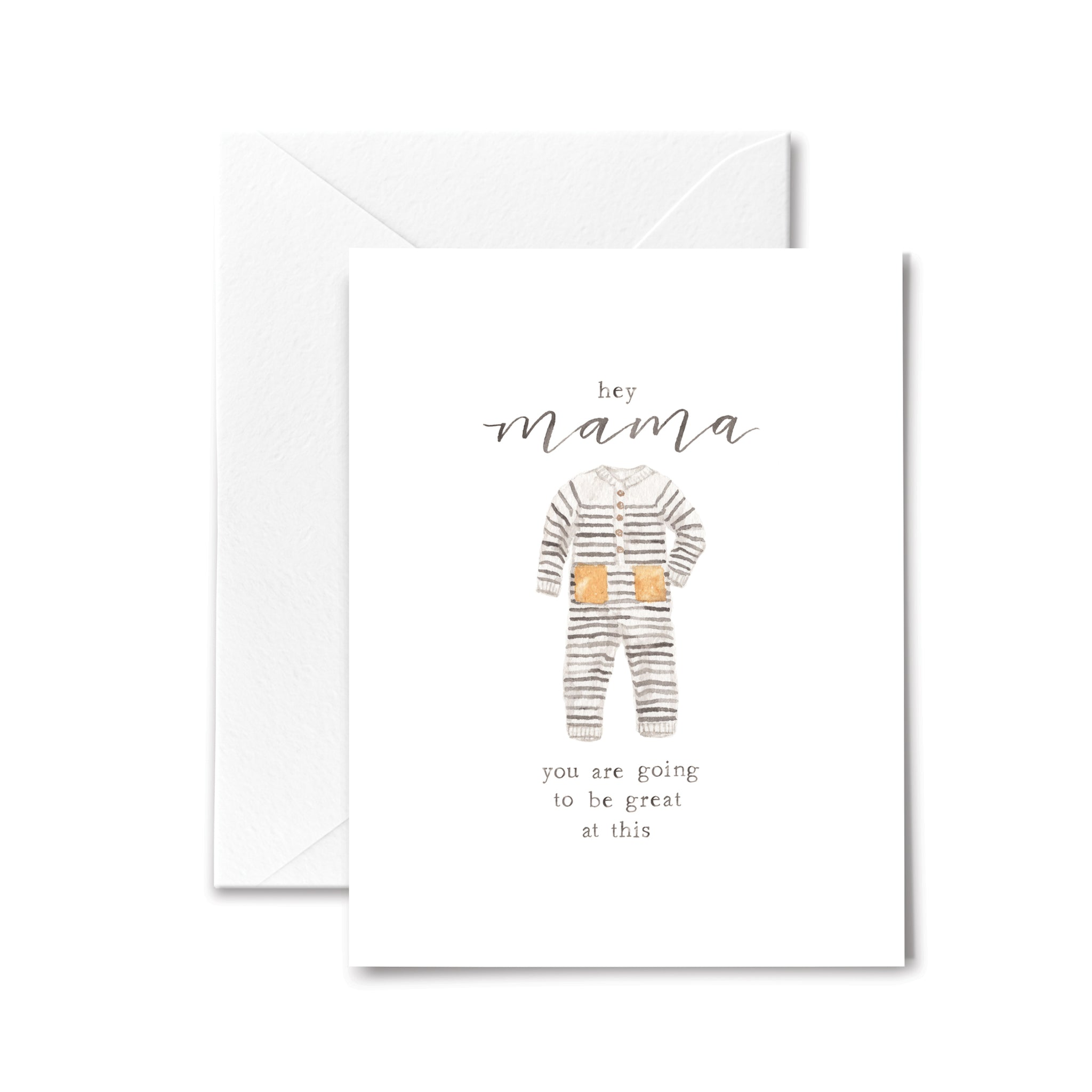 Baby Card Mama Mother New Watercolor Baby Shower