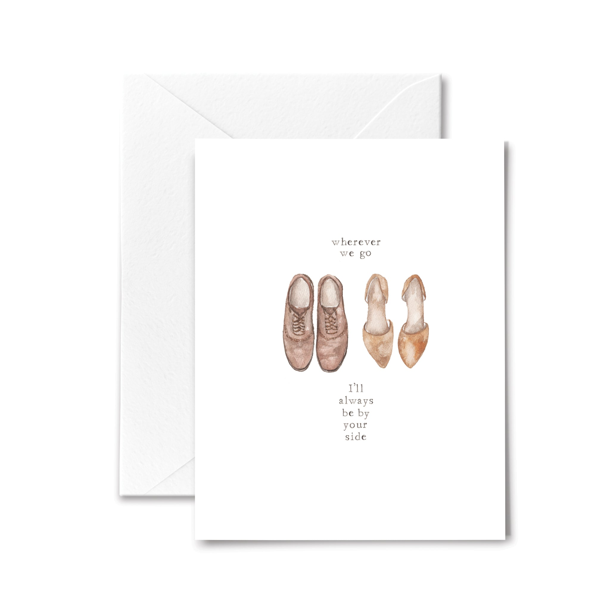 anniversary card love wedding watercolor illustration