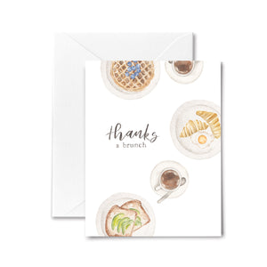 Thank You Card Brunch Avocado Food Watercolor