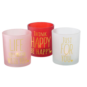 Positive affirmation tea lights