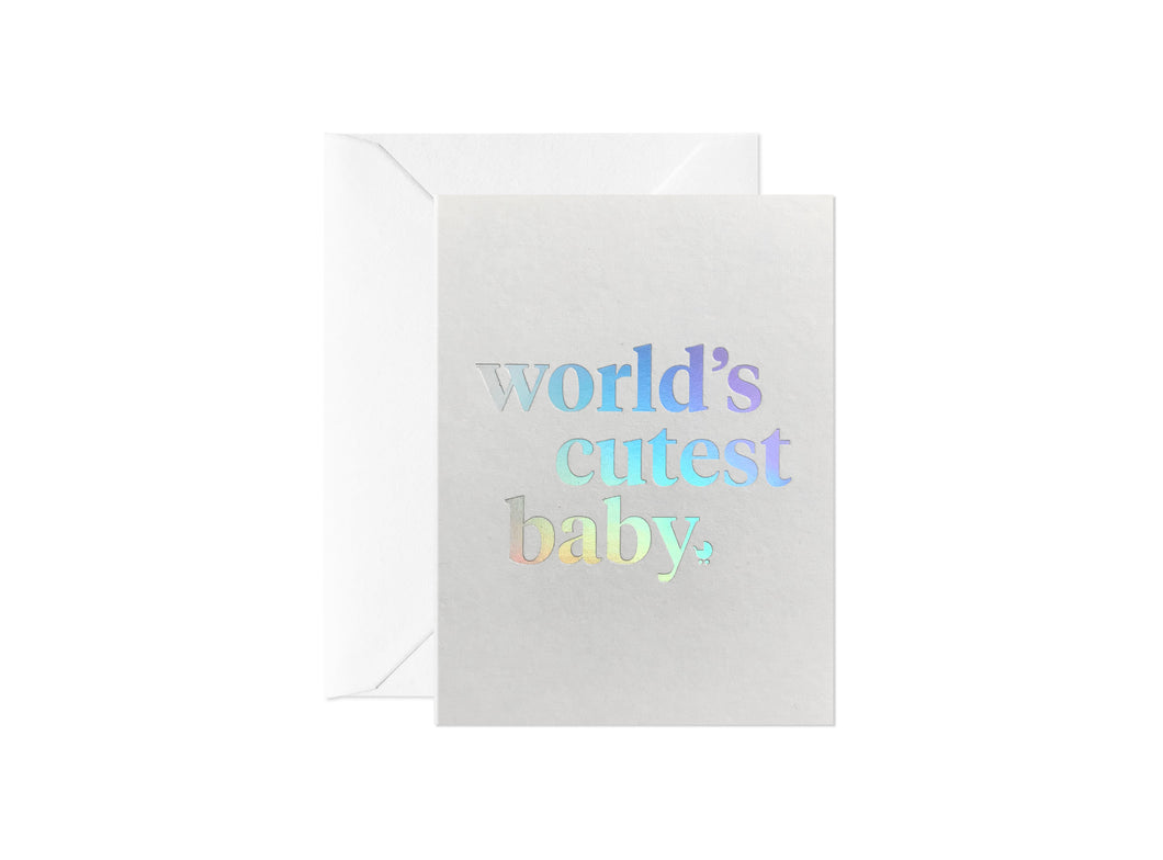 world's cutest baby (mini cards)